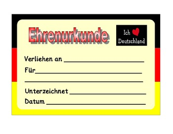 German  Merit Certificates
