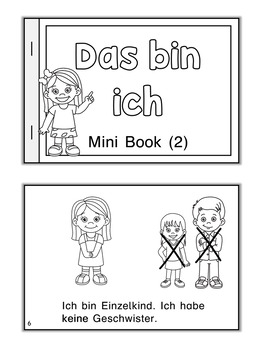 German Mini Book  Das bin ich