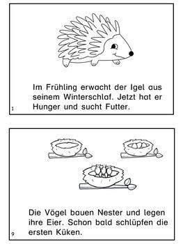 German Mini Book - Der Frühling