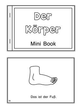 German Mini Book  Der Körper