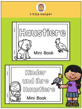 German Mini Book  Haustiere