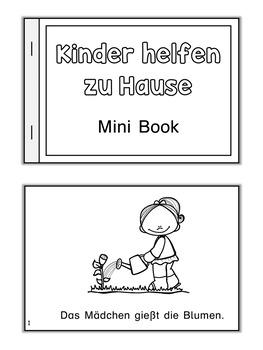 German Mini Book  Kinder helfen zu Hause