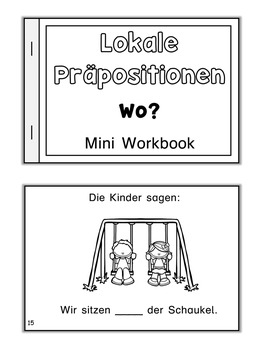 German  Mini Book  Präpositionen Wo?