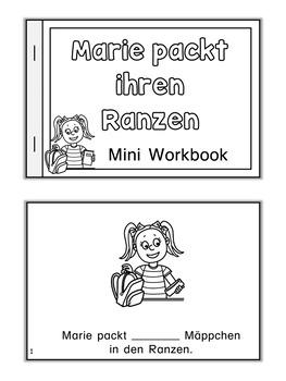 German Mini Books - Ich packe meinen Ranzen