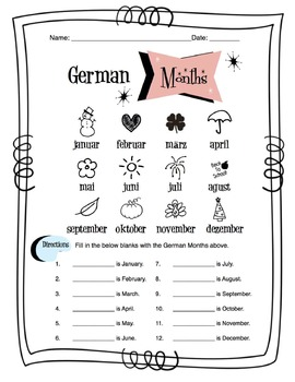 german months of the year worksheet packet by sunny side. Black Bedroom Furniture Sets. Home Design Ideas