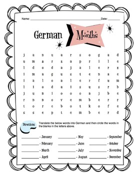german months of the year worksheet packet by sunny side up resources. Black Bedroom Furniture Sets. Home Design Ideas