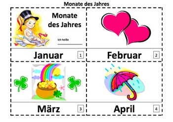 German Months of the Year 2 Emergent Reader Booklets