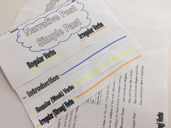 German Narrative (Simple) Past Tense Foldable