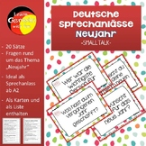 German New Year Smalltalk- Deutsche Sprechanlässe zum Them