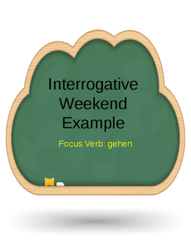 Question Writing Activity with Answer Key German Novice A.1