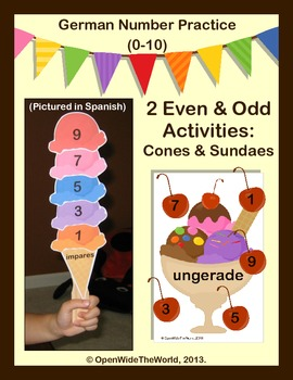 German Numbers (0-10) Ice Cream Number Pack