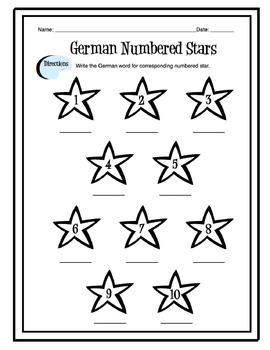 German Numbers 1-10 Worksheet