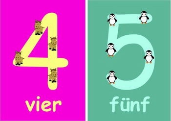 German  Numbers   Flashcards (0 to 10) for Younger Children.