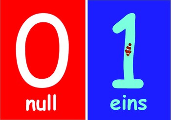 German  Numbers   Flashcards (0 to 10) for Younger Children .