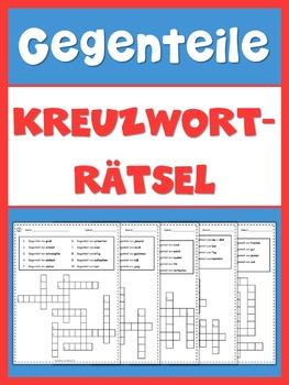 German Opposites  Crossword Puzzles