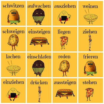 German Opposite Verbs Memory - Learn the opposites - game