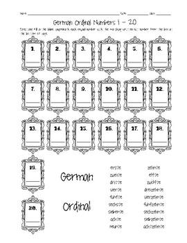 German ordinal numbers 1 20 worksheet by sunny side up resources german ordinal numbers 1 20 worksheet ibookread Read Online