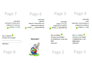 German - Ostern/Easter - Pocketbooks (Verbs, Prepositions, Rooms, Furniture)