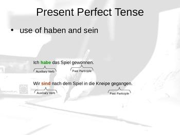 German Partizip Perfekt / Conversational Past / Perfect Te