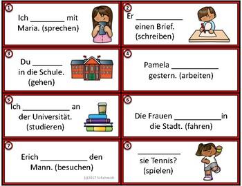 German Past Tense Task Cards: Imperfect / Imperfekt (Regular + Irregular Verbs)