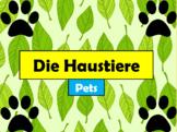 German (Deutsch) - Pet Vocabulary - PowerPoint