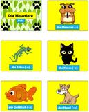 German (Deutsch) - Pets - PowerPoint, Worksheet + Flashcards