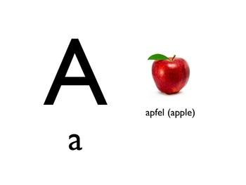 German Picture Alphabet PowerPoint