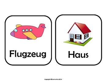 German Picture Cards and Worksheets