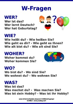 German Poster graphic help to learn German