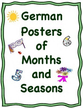German Posters or Cards of the Months and the Four Seasons