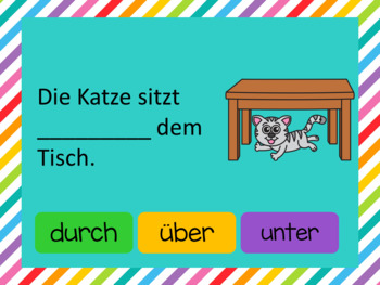 German PowerPoint Game prepositions