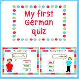 German PowerPoint quiz  My first German quiz