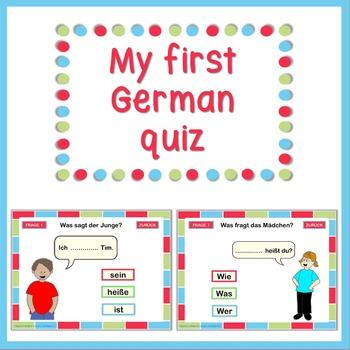 German PowerPoint quiz  My first German quiz