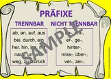 German (Deutsch) - Prefixes Poster (Separable and Insepara