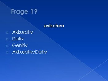 German Preposition Bingo