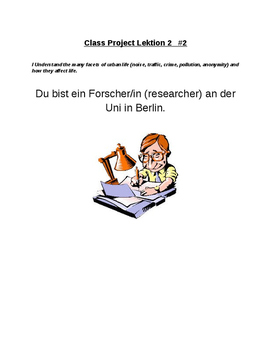 Problems of City Life Project- In der Stadt