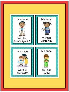 German professions  Ich habe ... Wer hat ...? game