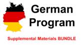 German Middle School and German High School Activities BUNDLE