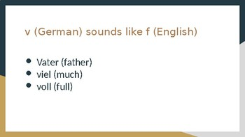 German Pronunciation PowerPoint