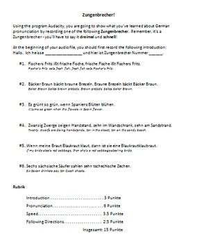 German Pronunciation Review