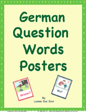German Question Words Visuals (in color) For Walls
