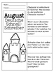 German Quick Writes- Deutsche Übungen zum schreiben üben- August