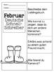 German Quick Writes- Deutsche Übungen zum schreiben üben- Februar