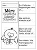 German Quick Writes- Deutsche Übungen zum schreiben üben- März