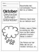 German Quick Writes- Deutsche Übungen zum schreiben üben- Oktober