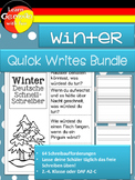 German Quick Writes- Deutsche Übungen zum schreiben üben- Winter - Bundle