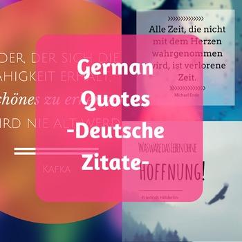 German Quotes - Deutsche Zitate