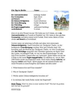 Ein Tag in Berlin - A Day in Berlin German Reading