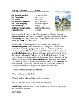 Ein Tag in Berlin ~ A Day in Berlin German Reading