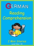 German Reading Comprehension  2 Mini Stories